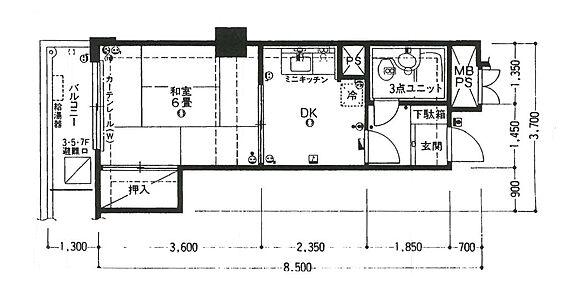 マンション(建物一部)-広島市中区土橋町 間取り