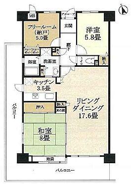 マンション(建物一部)-神戸市須磨区白川字不計 南西向きのL字型バルコニーで日当り通風良好