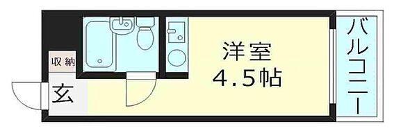 区分マンション-大阪市城東区成育2丁目 水回りがコンパクトな間取り