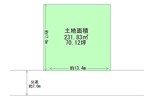 土地-多賀城市高橋5丁目 区画図