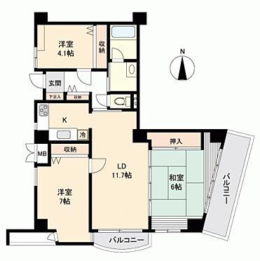 マンション(建物一部)-富山市黒瀬北町2丁目 間取り