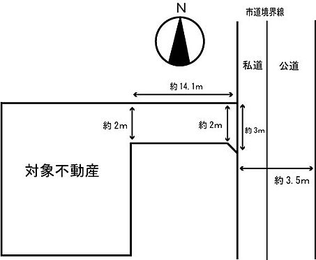 土地-横浜市旭区本宿町 区画図