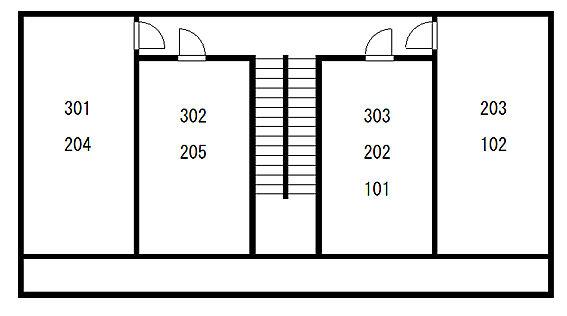 マンション(建物全部)-船橋市習志野台4丁目 配置図