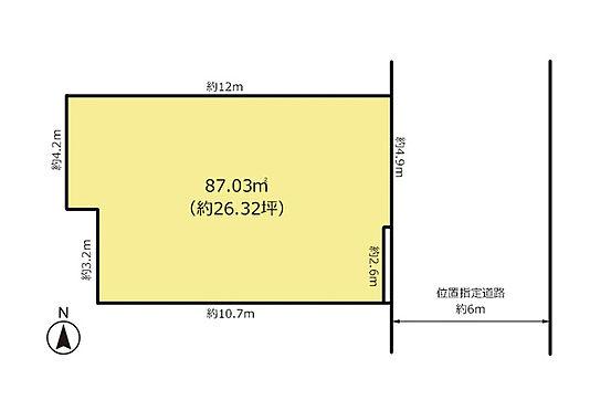 土地-杉並区成田西2丁目 区画図