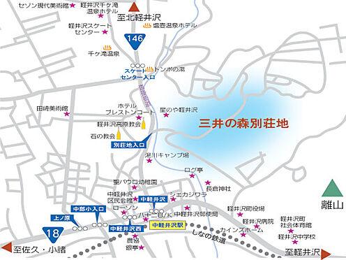 土地-北佐久郡軽井沢町大字長倉 ご覧の通りの場所にある別荘地です。アクセスに長けた場所。
