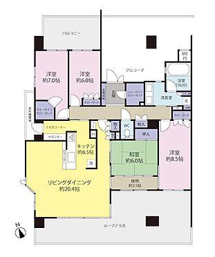 中古マンション-川崎市麻生区はるひ野1丁目 二面バルコニーで風通眺望良好です。