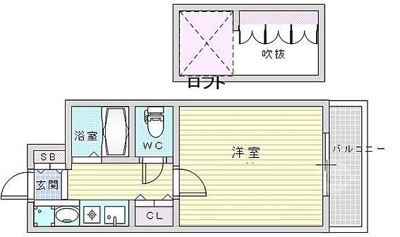 マンション(建物一部)-大阪市北区豊崎1丁目 クローゼットやシューズボックスの他、ロフトにも収納スペース有