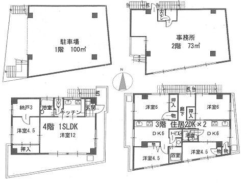 ビル(建物全部)-板橋区常盤台4丁目 間取り図になります。