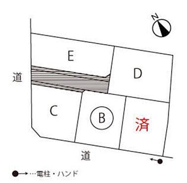 土地-西尾市戸ケ崎4丁目 B区画 123.43平米(約37.33坪)