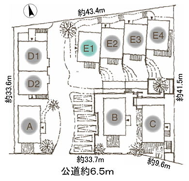 アパート-名古屋市名東区大針2丁目 建物配置図