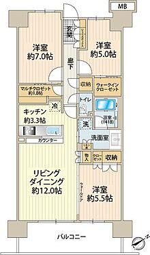 中古マンション-町田市小山ヶ丘4丁目 約1.8帖のマルチクローゼットで収納も充実。ウォールドアを開放収納すれば約20.8帖のLDK
