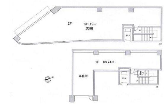 店舗事務所(建物一部)-渋谷区神宮前2丁目 間取り