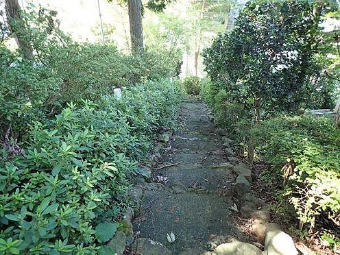中古一戸建て-田方郡函南町平井 【入口】建物への通り道は、専用の下り階段があります。こちらの部分も対象地となります。