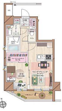区分マンション-台東区浅草橋5丁目 間取り