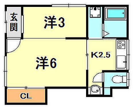 アパート-神戸市長田区大谷町3丁目 間取り
