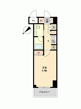 マンション(建物一部)-横浜市中区松影町1丁目 間取り