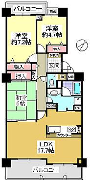 中古マンション-神戸市北区緑町8丁目 間取り