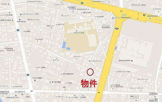 アパート-宮崎市西高松町 地図