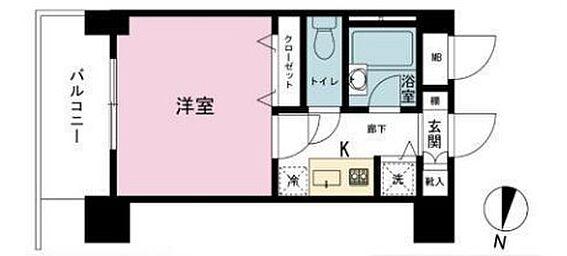 マンション(建物一部)-港区赤坂2丁目 間取り