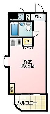 マンション(建物一部)-大阪市北区西天満3丁目 角部屋の単身者向けプラン