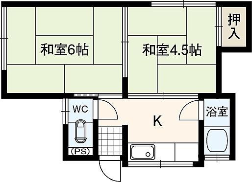 アパート-四條畷市岡山2丁目 1階左 その他の部屋に関しましては、室内未確認の為間取り不明です。