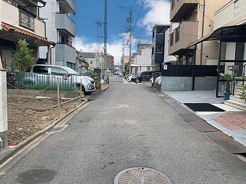 戸建賃貸-名古屋市西区笠取町1丁目 前面道路、一方通行のためすれ違いなく通れるので安心です!