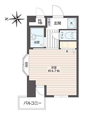 マンション(建物一部)-神戸市東灘区住吉宮町1丁目 二面開口のワンルーム
