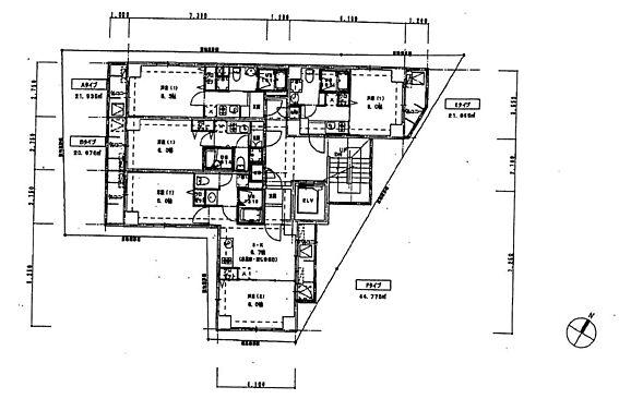 マンション(建物全部)-中野区野方5丁目 4階部分間取り
