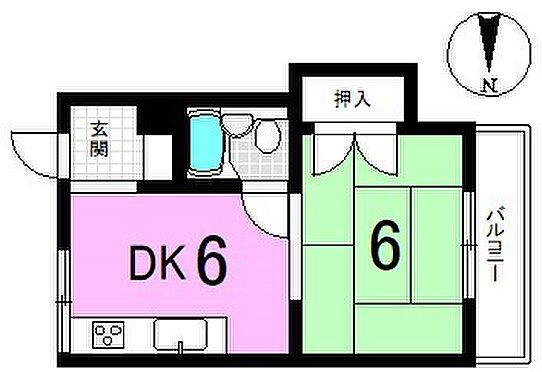 マンション(建物一部)-京都市山科区小山西御所町 間取り