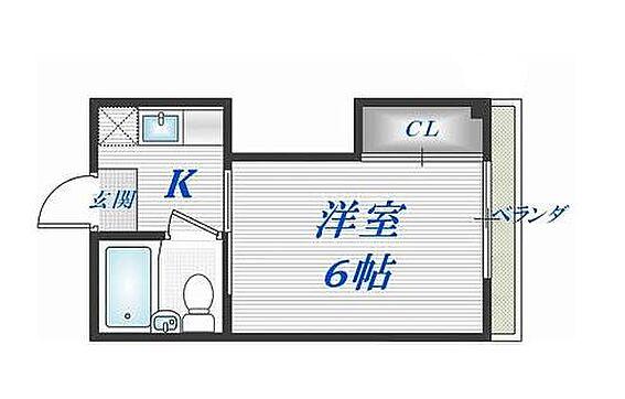 マンション(建物一部)-大阪市生野区小路東5丁目 シンプルな間取り