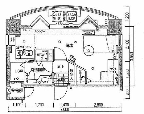 マンション(建物一部)-新潟市中央区関新2丁目 間取り