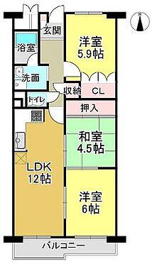 マンション(建物一部)-京都市右京区梅津南広町 南向きバルコニーで日当り良好