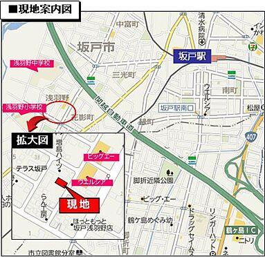 アパート-坂戸市浅羽野1丁目 現地案内図