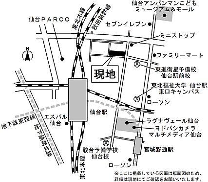 区分マンション-仙台市宮城野区名掛丁 地図