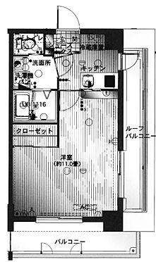 区分マンション-福岡市博多区御供所町 間取り
