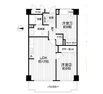 中古マンション-横浜市鶴見区駒岡3丁目 間取り
