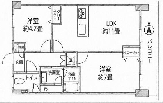 中古マンション-江東区亀戸6丁目 間取り