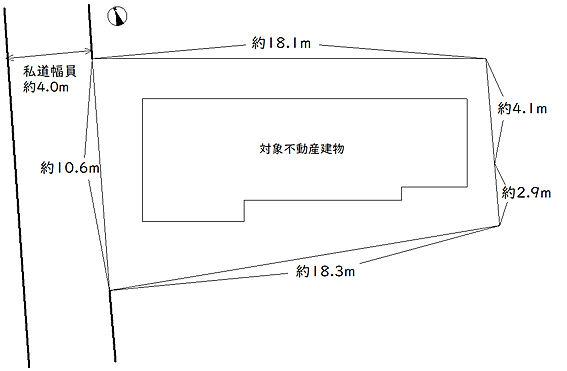 アパート-中野区若宮2丁目 敷地図