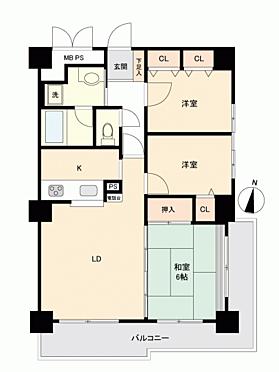 中古マンション-札幌市中央区南14丁目 間取り
