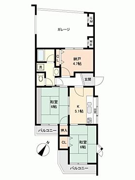 区分マンション-神戸市垂水区西舞子9丁目 間取り