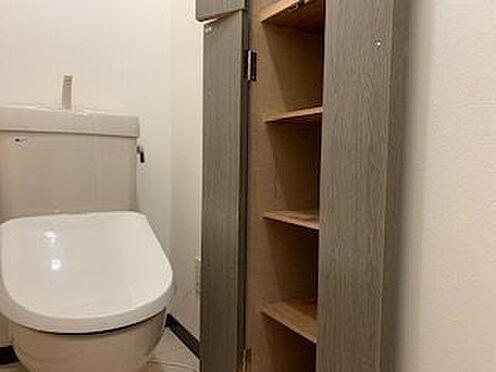 中古マンション-熱海市海光町 水回りのご紹介。トイレは温水洗浄機能を設置済。さらに収納も充実。