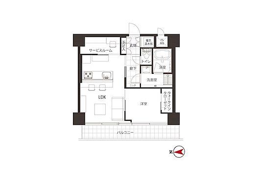 中古マンション-港区芝大門1丁目 45.50m2の1SLDK、新規内装リフォーム済