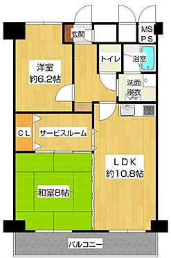 マンション(建物一部)-大阪市淀川区新北野1丁目 収納に便利なサービスルームあり