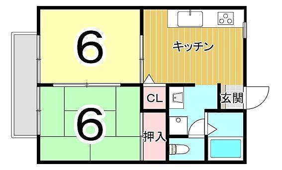 アパート-鹿児島市喜入町 間取り