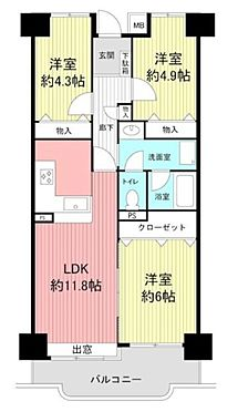 マンション(建物一部)-神戸市須磨区北落合2丁目 間取り