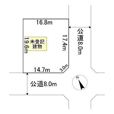 建物全部その他-網走郡美幌町字青葉1丁目 地形図