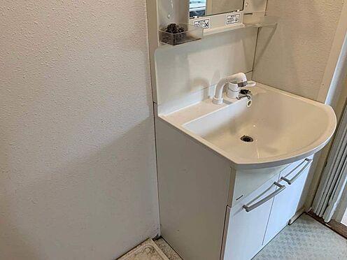 区分マンション-豊田市平和町4丁目 朝の身支度はココで!洗面台の下には収納があるので浴室の掃除道具なども収納できます。