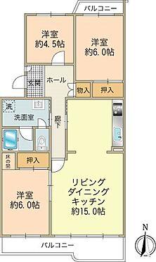 区分マンション-八王子市南大沢3丁目 全室フローリング3LDK