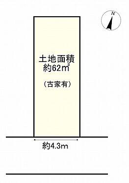土地-豊中市庄本町4丁目 区画図