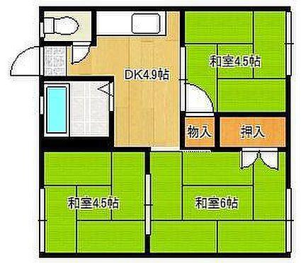 アパート-北九州市八幡西区別当町 3DK×4戸、4戸中3戸賃貸中、現況月額収入10.1万